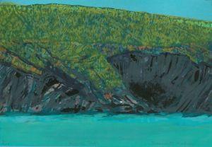Bernadette Madden : Kinsale Rocks : Screenprint on paper : 24 X 34 cm : varied edition 12