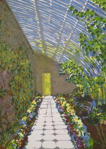 Greenhouse : Screenprint on paper : Bernadette Madden