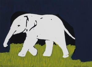 White Elephant : Screenprint on Paper : Bernadette Madden