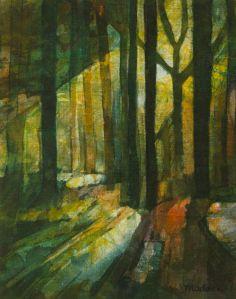Long Shadows : Wax resist on linen