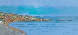 Bernadette Madden : Dalkey View :  Screen Print On Paper 17X36CM