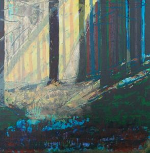 Bernadette Madden :Sunlight and Shadows : Screenprint on Fabriano Artistico