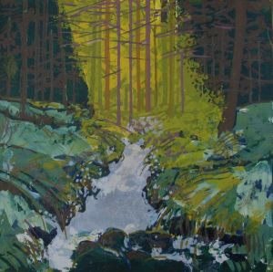 Bernadette Madden : In the Woods : Screenprint on Fabriano  Artistico