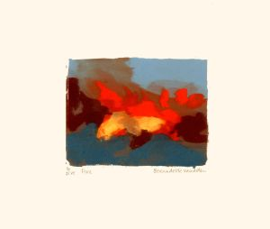 Fire : Screenprint on paper : Bernadette Madden