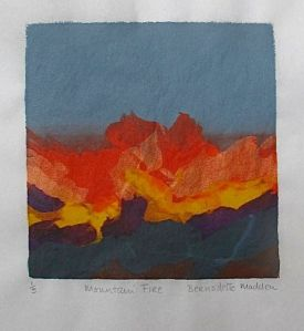 Mountain Fire_Screenprint_Bernadette Madden - Version 2