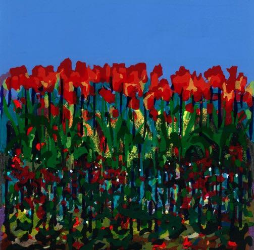 Tulips_Bernadette Madden_Screenprint